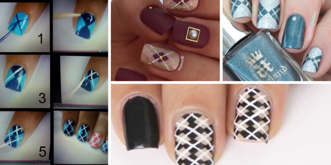 Argyle Nail Art Manicure