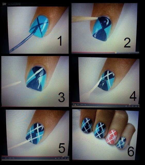 Argyle nail art manicure 4