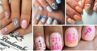 Baby Shower Nails Tutorial Ideas