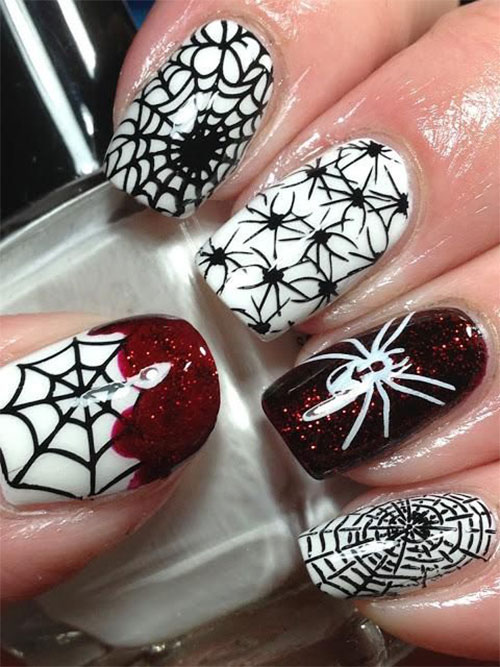 Best Yet Scary Halloween Nail Art Designs Ideas