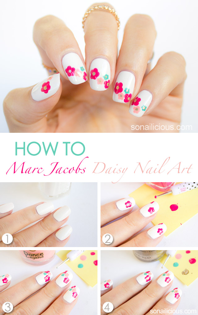 DIY Daisy Floral Nail Art Tutorial