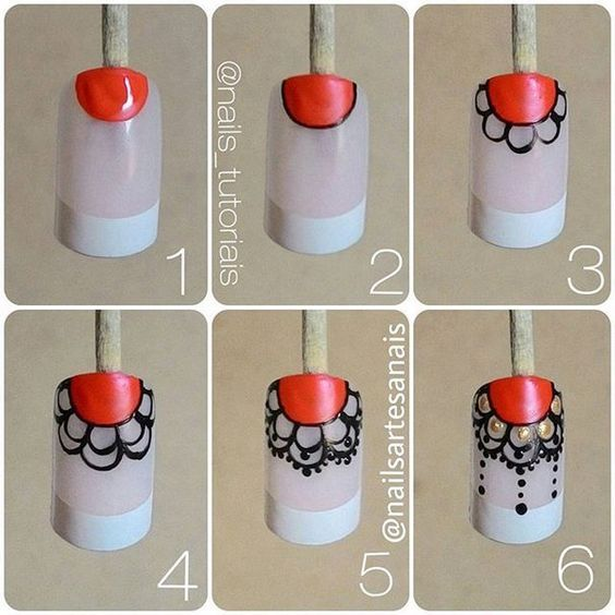 DIY Lace Nail 3