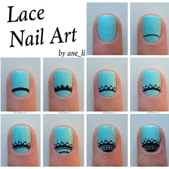 DIY Lace Nail 4