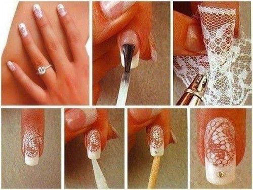 DIY Lace Nail 5