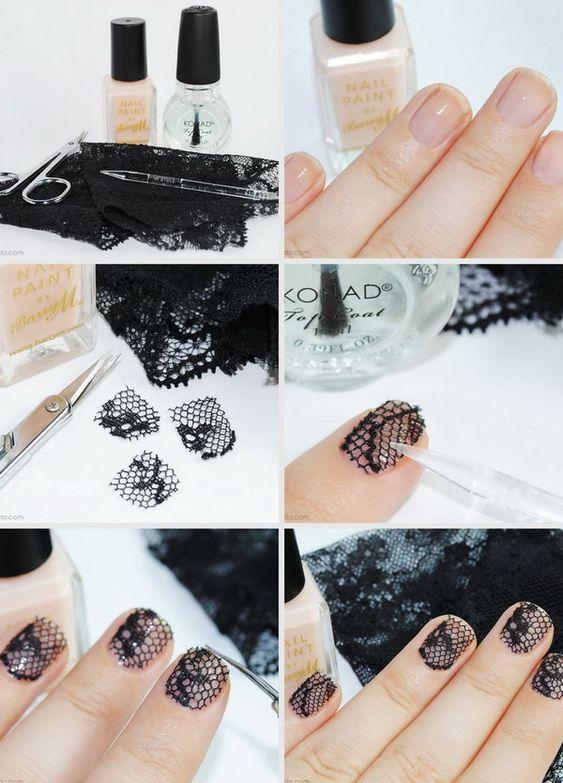 DIY Lace Nail 6