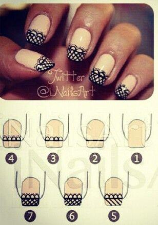 DIY Lace Nail 7
