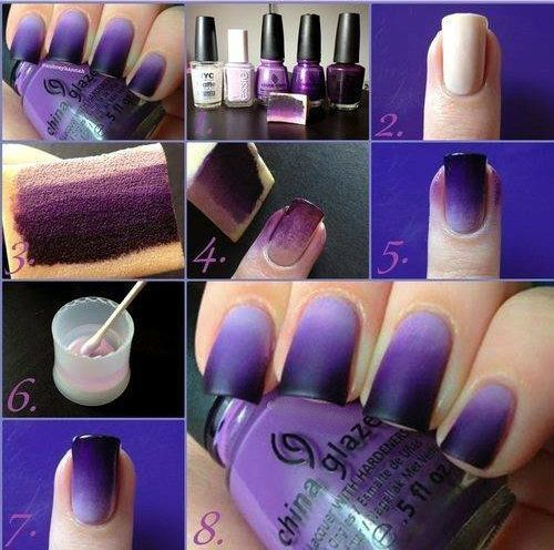 DIY ombre nails 1