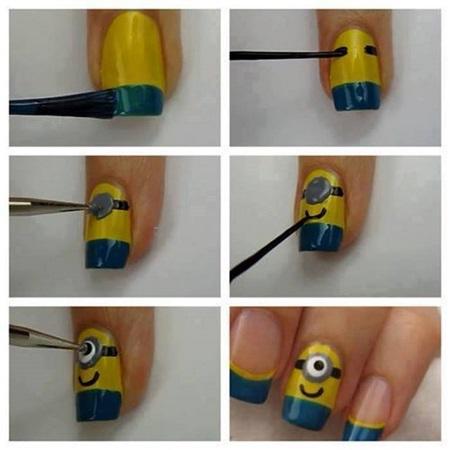 Despicable me Minions nails