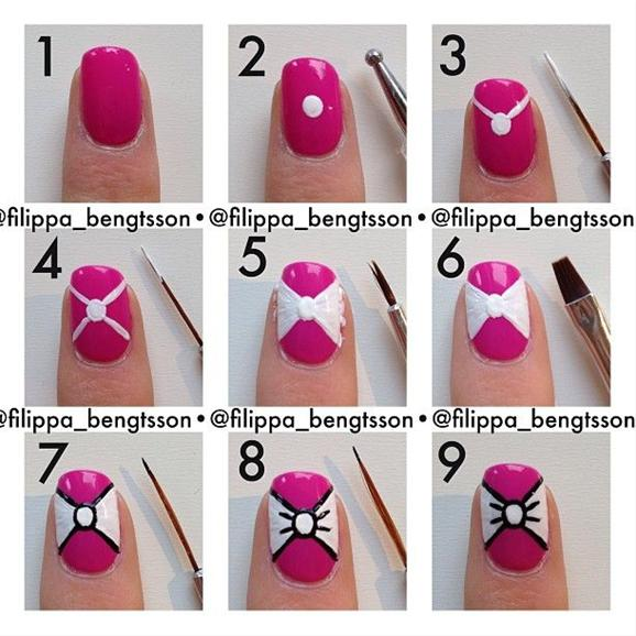 Easy-Bow-Tie-Nail-Art-Tutorial