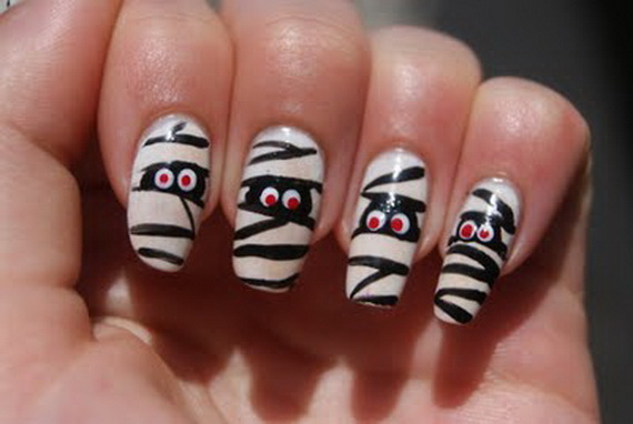 How to halloween nail art designs