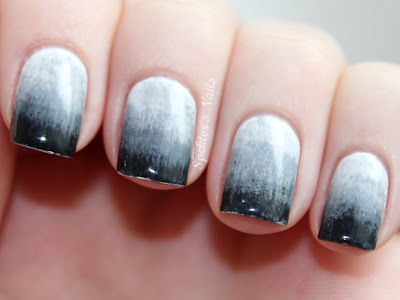 Grey Gradient Nails