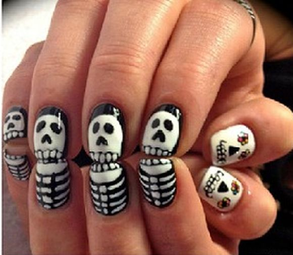 Halloween-Skeleton-Nail-Art-Designs