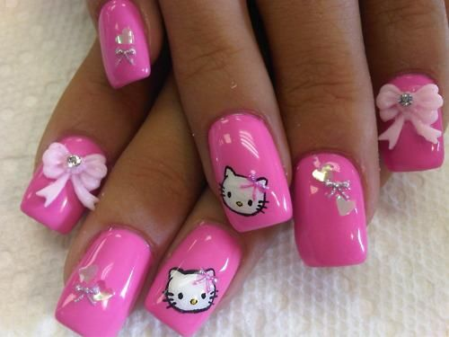 Hello Kitty Stiletto Nail 6