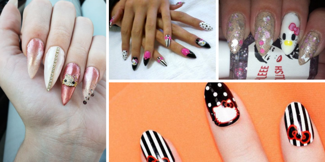 Hello Kitty Stiletto Nail