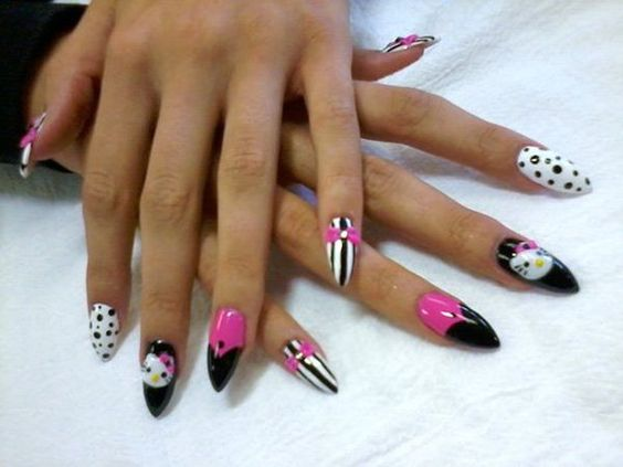 Hello Kitty Stiletto Nail 8