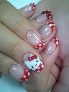 Hello Kitty Stiletto Nail Art