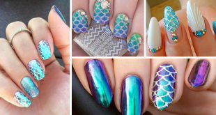 Mermaid Decorated Nails