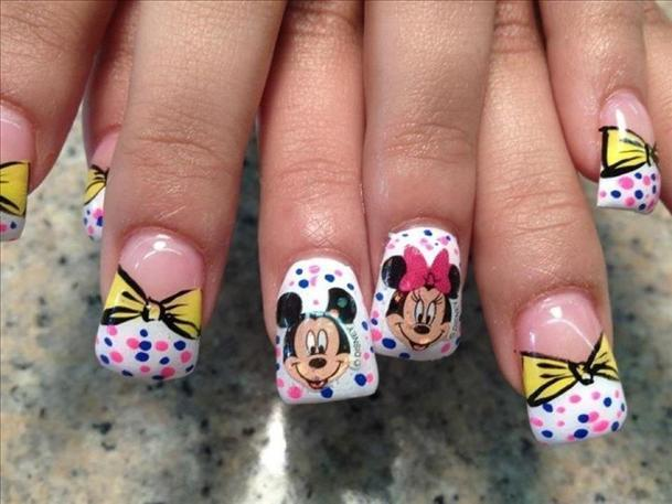 Mickey and Minnie Mouse nails image