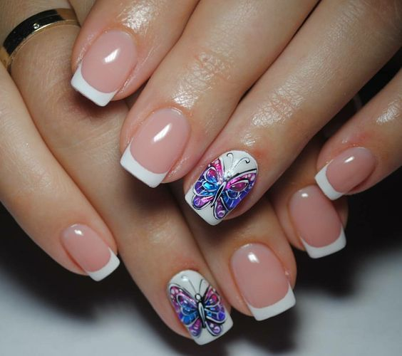 Nails Decorated Butterflies 3