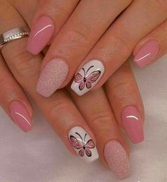 Nails Decorated Butterflies 6