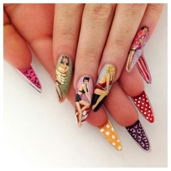 Nails Pin Up Style 4