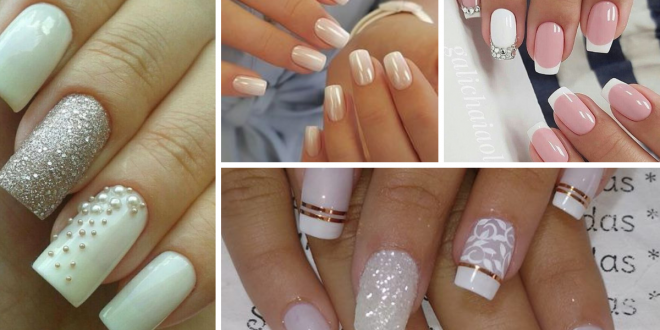 Nails decorated brides