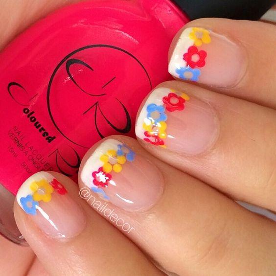 Nails floral print 1