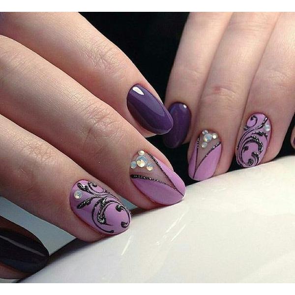 Nails floral print 2