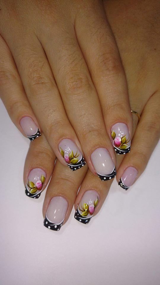 Nails floral print 3