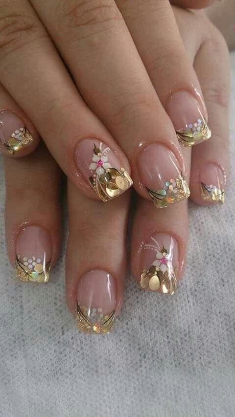 Nails floral print 5