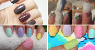 Salt Nail Art Tutorial 1