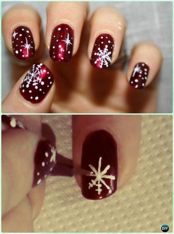 Snowflake Nail 7
