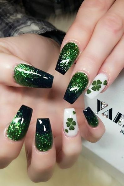 St Patrick Day NAils Ideas 3