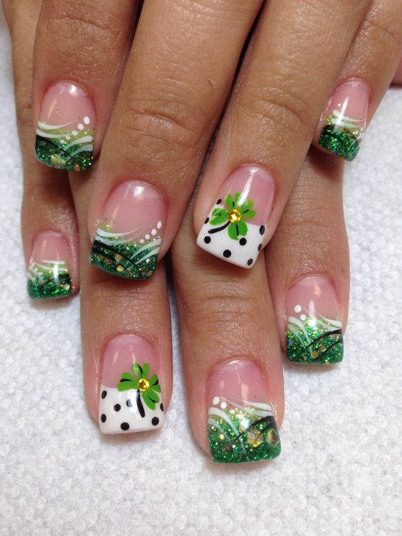 St Patrick Day NAils Ideas 5