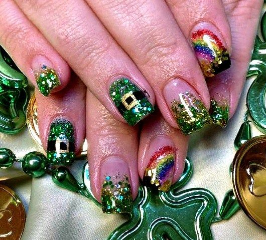 St Patrick Day NAils Ideas 6