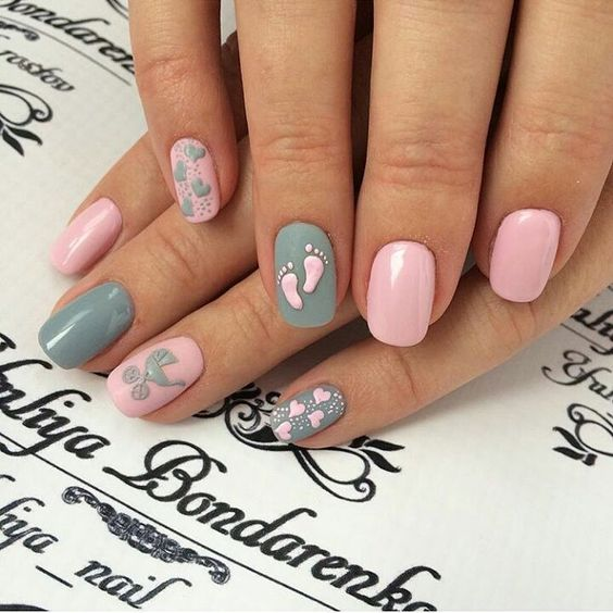 baby shower nails ideas 3