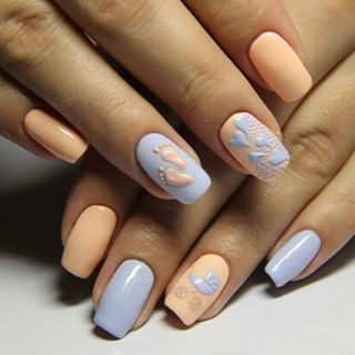 baby shower nails ideas 7