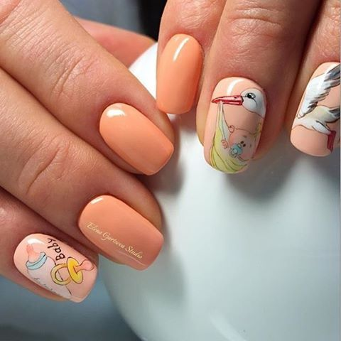 baby shower nails ideas 9
