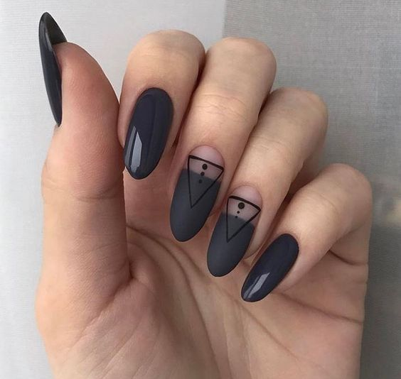 black decorated nails 13