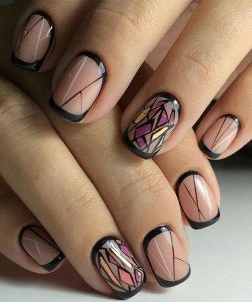 border nail ideas tutorial 2