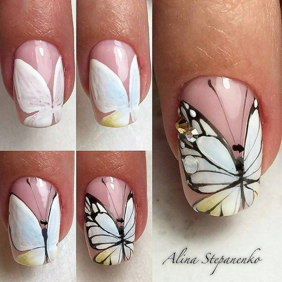 butterfly nail tutorial 5