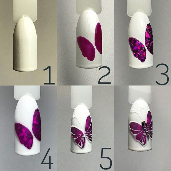 butterfly nail tutorial 6