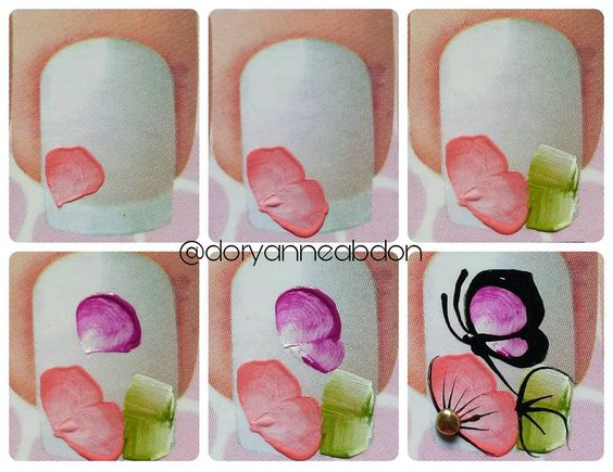butterfly nail tutorial 8