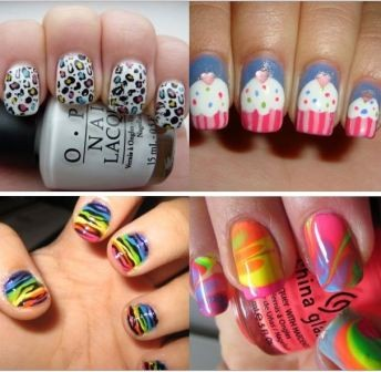 cute nails designs animalprint