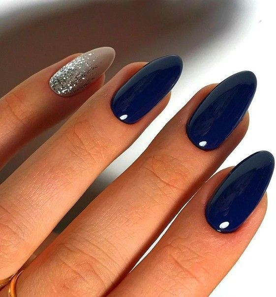 decorated nail ideas blue 11