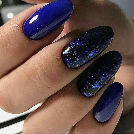 decorated nail ideas blue 12