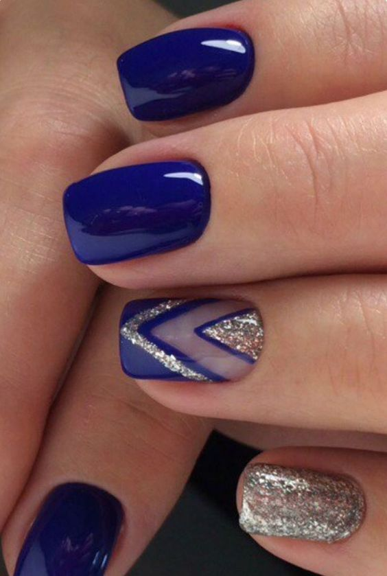 decorated nail ideas blue 2