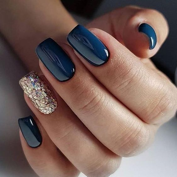 decorated nail ideas blue 4