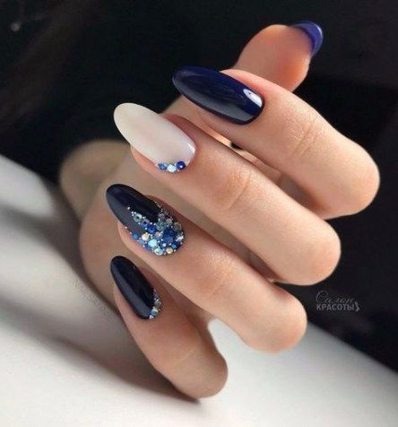 decorated nail ideas blue 7