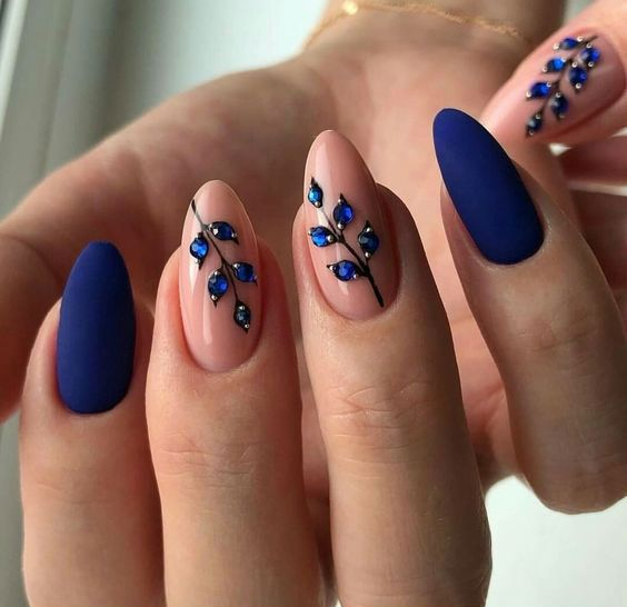 decorated nail ideas blue 8